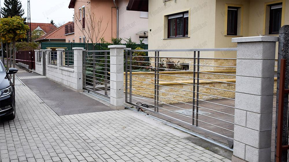 Pálcás rozsdamentes kerítés