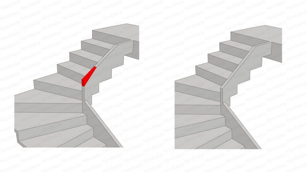 Gipsz-beton lépcső terv