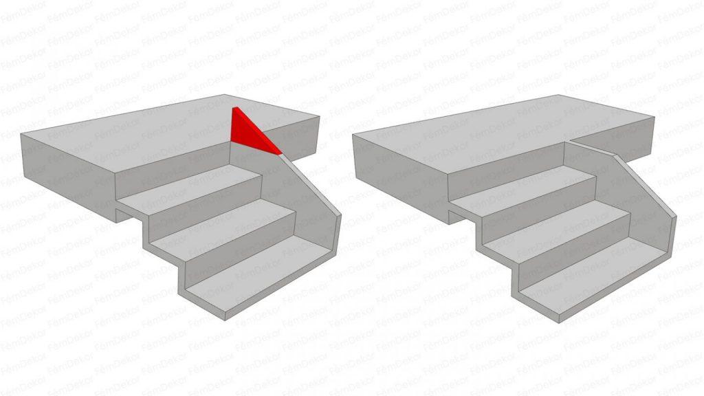 Gipszbeton lépcső terv