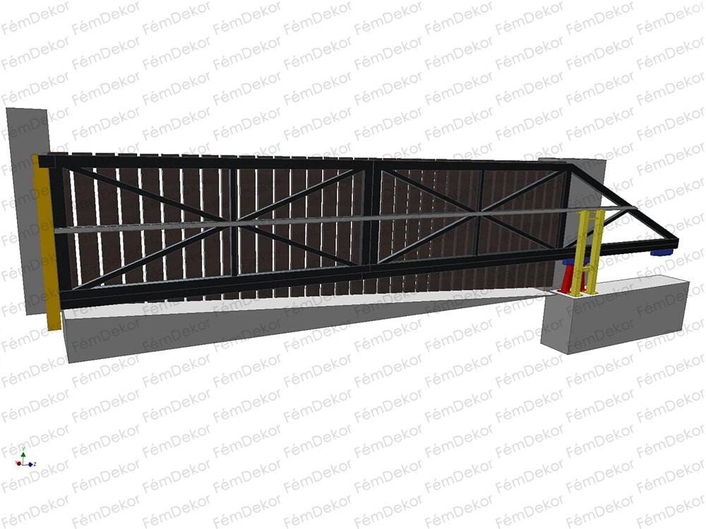 4117e1313c 6m-es úszókapu szerkezet | Fémdekor Kft.